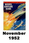 Model Airplane news cover for November of 1952
