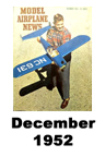 Model Airplane news cover for December of 1952