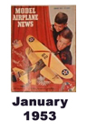 Model Airplane news cover for January of 1953