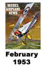Model Airplane news cover for February of 1953