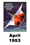 Model Airplane news cover for April of 1953