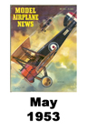 Model Airplane news cover for May of 1953