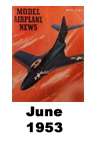 Model Airplane news cover for June of 1953