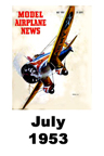 Model Airplane news cover for July of 1953
