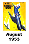 Model Airplane news cover for August of 1953