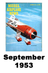 Model Airplane news cover for September of 1953