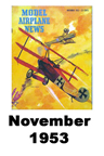 Model Airplane news cover for November of 1953