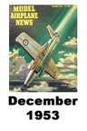 Model Airplane news cover for December of 1953