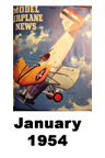 Model Airplane news cover for January of 1954