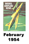 Model Airplane news cover for February of 1954