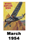 Model Airplane news cover for March of 1954