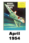 Model Airplane news cover for April of 1954