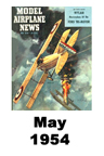 Model Airplane news cover for May of 1954