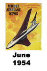 Model Airplane news cover for June of 1954