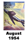 Model Airplane news cover for August of 1954
