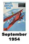 Model Airplane news cover for September of 1954
