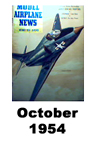 Model Airplane news cover for October of 1954