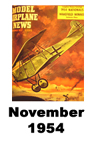Model Airplane news cover for November of 1954