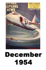 Model Airplane news cover for December of 1954