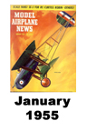 Model Airplane news cover for January of 1955