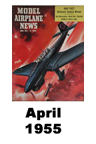 Model Airplane news cover for April of 1955