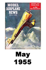 Model Airplane news cover for May of 1955