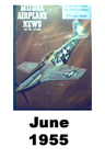 Model Airplane news cover for June of 1955