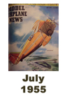 Model Airplane news cover for July of 1955