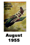 Model Airplane news cover for August of 1955