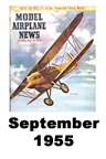 Model Airplane news cover for September of 1955