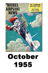Model Airplane news cover for October of 1955