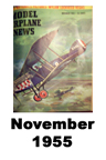 Model Airplane news cover for November of 1955
