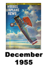 Model Airplane news cover for December of 1955