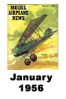 Model Airplane news cover for January of 1956