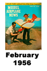 Model Airplane news cover for February of 1956