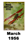 Model Airplane news cover for March of 1956