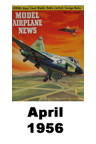 Model Airplane news cover for April of 1956