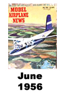Model Airplane news cover for June of 1956