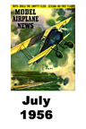 Model Airplane news cover for July of 1956