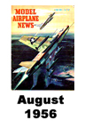 Model Airplane news cover for August of 1956