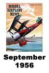 Model Airplane news cover for September of 1956