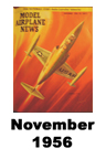Model Airplane news cover for November of 1956