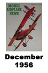 Model Airplane news cover for December of 1956