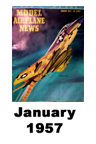 Model Airplane news cover for January of 1957