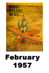 Model Airplane news cover for February of 1957