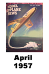 Model Airplane news cover for April of 1957
