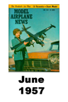 Model Airplane news cover for June of 1957