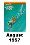 Model Airplane news cover for August of 1957