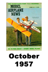 Model Airplane news cover for October of 1957