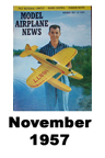 Model Airplane news cover for November of 1957